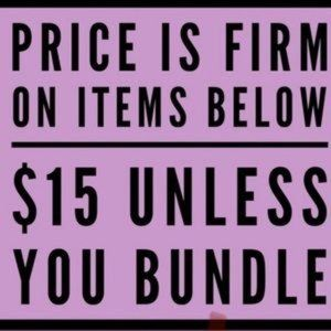 PRICE IS FIRM